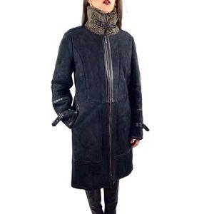 NWOT COLE HAAN genuine lamb shearling coat